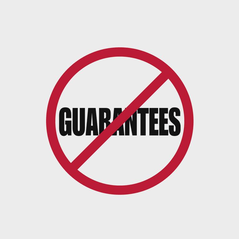Отсутствие гарантий безопастности и качества